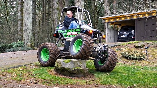 Crazy Mini Grave Digger Monster